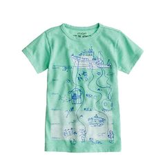 j crew Boys' under-the-sea-level tee