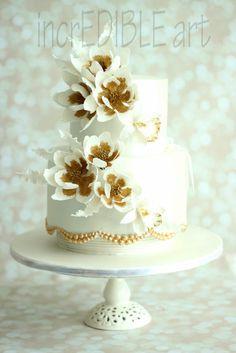 Angel Wings- Wedding Cake - Cake by Rumana Jaseel