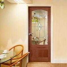 Kent Mahogany Door with Diamond Style Safety Glass. #mahoganydoors #doorswithglass #hardwooddoor