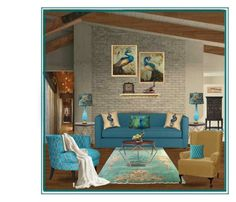 """""""Peacock Room"""" by chileez ❤ liked on Polyvore featuring interior, interiors, interior design, home, home decor, interior decorating, Noir, Soicher Marin, Jay Strongwater and Threshold"""