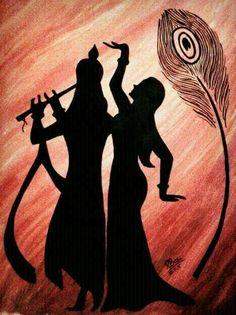 Arte Krishna, Krishna Radha, Zantangle Art, Krishna Drawing, Afrique Art, Ganesha Painting, Indian Art Paintings, Pencil Art Drawings, Diy Canvas Art