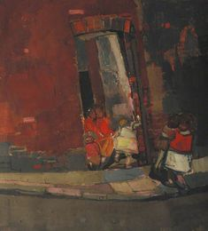 Joan Kathleen Harding Eardley - The Gorbals, 1955 The Gorbals, Aberdeen Art Gallery, Gallery Of Modern Art, Abstract City, Glasgow School Of Art, Contemporary Abstract Art, Art Uk, Life Drawing, Your Paintings