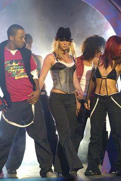 Britney performing in 2003.