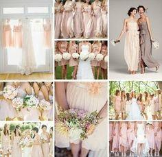 Blush bridesmaid dresses - so pretty! / gowns - Juxtapost