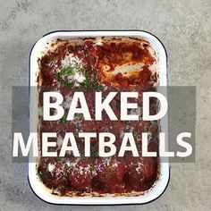 These baked meatballs are one of my all-time favorite recipes. I make them for special occasions and… Baked Meatball Recipe, Meatball Bake, Meatball Recipes, Pork Recipes, Wine Recipes, White Meat, Beef Dishes, Quick Easy Meals, Favorite Recipes