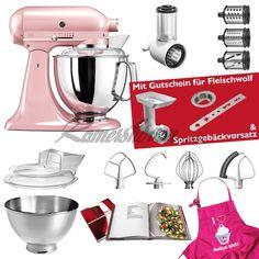 Artisan 4,8 Liter 5KSM175SEESP ROSE Silky Pink Sonderedition mit Gem&