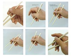 how to hold the chopsticks