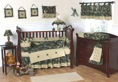 Green Camouflage Army Baby Crib Bedding Set - 9pc Nursery Collection #kidsroomtreasures $169.99
