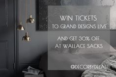 There are some goodies on the blog today! Free tickets for Grand Designs Live up for grabs AND 30% discount off @Wallace_Sacks London