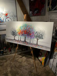 Maleri kunst | AlberoColorate Multo | 140x65cm
