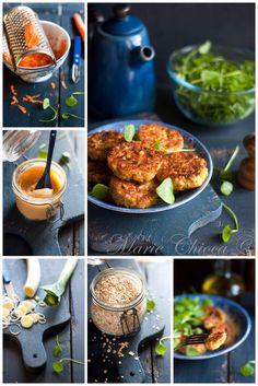 « Croc'légumes » croustifondants à l'avoine et miso blanc ( Sans lait, Végétarien, IG modéré )