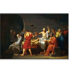 Buyenlarge 'Death of Socrates' by Jacque Louis David Painting Print