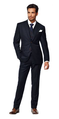 prices for male wedding suits Navy Blue 3 Piece Suit, Blue Suit Men, Three Piece Suit, 3 Piece Suits, Black Suits, Navy Suits, Blue Suit Wedding, Wedding Men, Wedding Suits