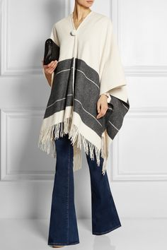 By Malene Birger Sinadis fringed wool poncho NET-A-PORTER.COM