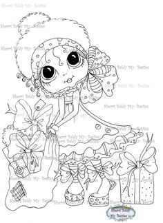 INSTANT DOWNLOAD Digital Digi Stamps Big Eye Big Head Dolls Digi  My - Besties  Winter Wonder img025  By Sherri Baldy