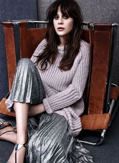 Zooey Deschanel Photoshoot for InStyle Magazine August 2014 Issue, Zooey Deschanel Style, Outfits and Clothes. Instyle Magazine, Zooey Deschanel Style, Emily Deschanel, Anastasia, Revista Instyle, Jessica Day, People, New Girl, American Actress