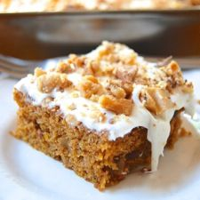 Pumpkin Cake Bars with Cream Cheese Frosting: King Arthur Flour (see Baker's Tips at the bottom for no gluten conversion info)
