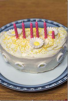 cake idea- half a cake, half a candle