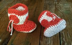 Items similar to Collegiate Colors Tassel Cowboy Booties on Etsy Baby Booties, Baby Photos, Photo Props, Tassels, Crochet Hats, Booty, Orange, Colors, Gifts