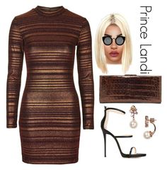 """Golden globes after party - Jordin v"" by prettyassprince ❤ liked on Polyvore featuring Topshop, Nancy Gonzalez, Giuseppe Zanotti, Kate Spade, Quay, women's clothing, women's fashion, women, female and woman"