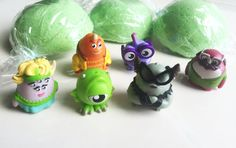 Monsters Inc. 6 Piece Party Pack Monsters U Bath Bombs -Surprise Fizzy Bath Candy for Tub Time Fun Lush Party Favors Monster Toy - Mikey