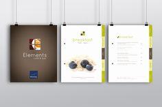 Accor Novotel Queenstown cafe / restaurant menu design