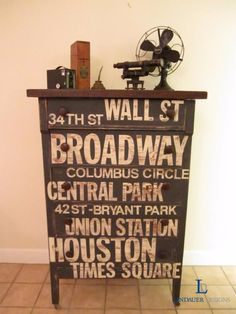 DIY Chalk Paint Furniture Ideas With Step By Step Tutorials - NYC Subway Sign Dresser - How To Make Distressed Furniture for Creative Home Decor Projects on A Budget - Perfect for Vintage Kitchen, Dining Room, Bedroom, Bath http://diyjoy.com/chalk-paint-furniture-ideas