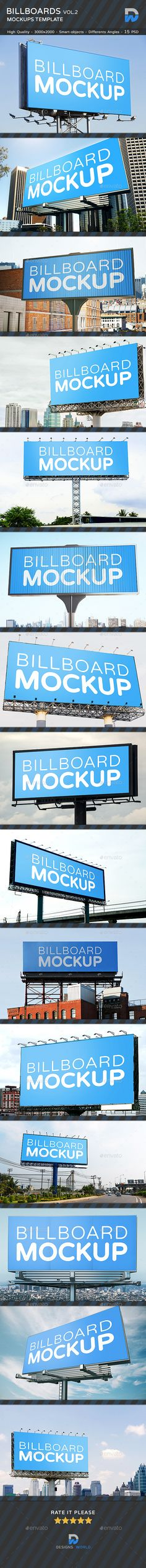 15 Billboards Mockup
