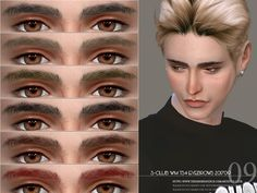 Eyebrows for men, 15 swatches, hope you like it, thanks!!  Found in TSR Category 'Sims 4 Facial Hair'