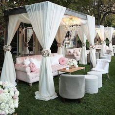 Luxury decorating ideas for outdoor wedding events 25 . Luxury decorating ideas for outdoor wedding events 25 STEP-BY-S. Wedding Lounge, Dream Wedding, Magical Wedding, Glamorous Wedding, Luxury Wedding, Wedding Beauty, Elegant Wedding, Outdoor Cabana, Outdoor Lounge