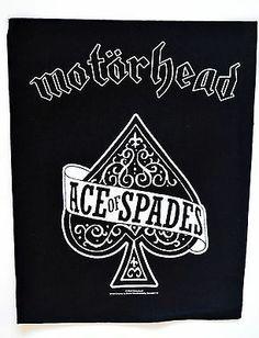 Official Motorhead Ace Of Spades Back Patch  http://www.ebay.co.uk/itm/Motorhead-Ace-Spades-Back-Patch-heavy-metal-rock-leather-denim-jacket-lemmy-/281215402973?pt=UK_Women_s_Vintage_Clothing&hash=item4179be83dd