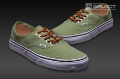 5d6d762766 Vans Authentic - Mens Select Shoes - (Brushed Twill) Shale Green-True White