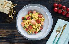 Cestoviny s lososom a paradajkami Pak Choi, Pasta Salad, Spaghetti, Ethnic Recipes, Fit, Crab Pasta Salad, Shape, Noodle