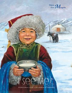 """Mongolia - As featured in """"My Very Own World Adventure"""" personalized children's book by I See Me!"""