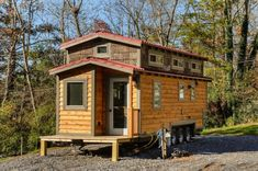 The Z Huis from Wishbone Tiny Homes: a 204 sq ft tiny house on wheels with a rust-like finish.