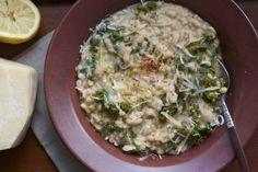 White bean, barley, and kale soup