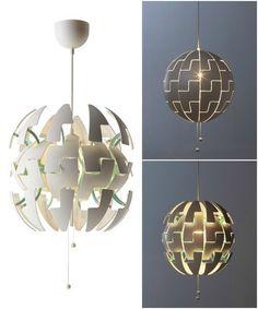 IKEA PS 2014 Pendant lamp white copper color Pinterest
