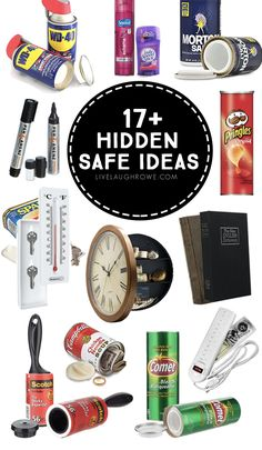 Have you ever wanted to have a couple of secret hiding places? Maybe a place for cash, valuables,etc. Here are Hidden Safe Ideas that you can put to good use and no one will know the difference. Secret Storage, Hidden Storage, Diy Storage, Storage Ideas, Kitchen Storage, Diy Kitchen, Storage Baskets, Secret Hiding Spots, Secret Safe