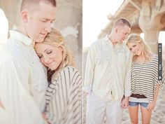 beach engagement, cute outfit. | CHECK OUT MORE IDEAS AT WEDDINGPINS.NET | #weddings #engagements #inspirational
