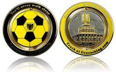 Dortmund 2012 Geocoin Polished Silver / Gold XLE
