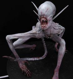 Alien Covenant Concept Art, Alien Concept, Monster Co, Zombie Monster, Alien Pictures, Alien Pics, Hr Giger Art, Giger Alien, Arte Alien
