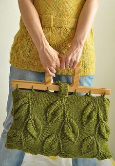 Inspiration...love the handles and the pattern on the bag....