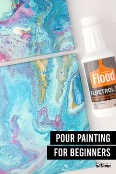 The Beginner's Guide to Pour Painting - learn everything you need to know to create your first paint pour canvas, including supplies and easy techniques. Fun craft for adults, teens, or kids. Pour Painting, Acrylic Pouring, Fun Crafts, Create Yourself, Fun Diy Crafts, Fun Activities