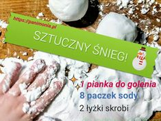 przepis na sztuczny śnieg Diy For Kids, Crafts For Kids, Craft Kids, Quilted Ornaments, Paper Clay, Hand Lettering, Techno, Diy And Crafts, Christmas Decorations
