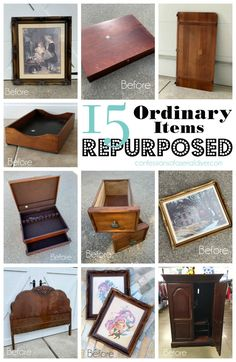 Confessions of a Serial Do-it-Yourselfer Thrift Store Furniture, Thrift Store Crafts, Repurposed Items, Repurposed Furniture, Furniture Makeover, Diy Furniture, Refurbishing Furniture, Chair Makeover, Antique Headboard
