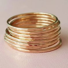 Gold Rings super thin ring gold filled stackable by bluebirdss