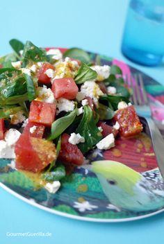 FUCTs Delight: Vogerlsalat mit Melone, Schafskäse und Thymiandressing