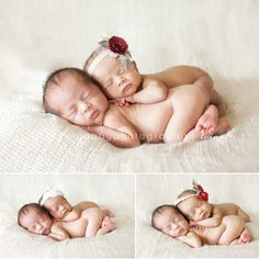 newborn boy girl twin photography - Google Search