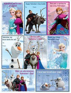 Pretty Free Printable Valentine´s Inspired in Frozen. Free Valentine Cards, Valentines Day Party, Valentines For Kids, Printable Valentine, Disney Valentines, Valentine Ideas, San Valentin Ideas, Oh My Fiesta, Valentine's Cards For Kids