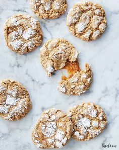 Whipping up a seasonal treat doesn?t have to be tedious or time consuming. Here, 36 of our favorite unapologetically fall dessert recipes that are also shockingly easy to make. Fall Dessert Recipes, Christmas Desserts, Cookie Recipes, Christmas Cookies, Christmas Baking, Halloween Cookies, Holiday Baking, Gingerbread Cookies, Holiday Recipes